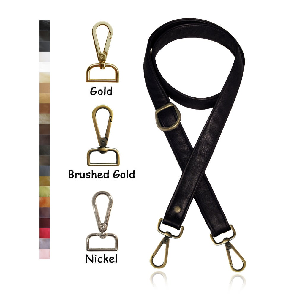 "Image of 55"" (inch) Adjustable Leather Strap - 1"" (inch) Wide - Your Choice of Color & Hook #14"