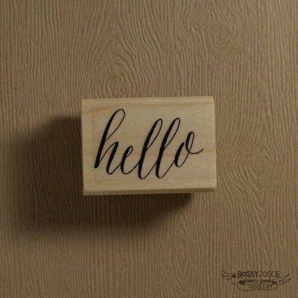 Image of hello calligraphy stamp