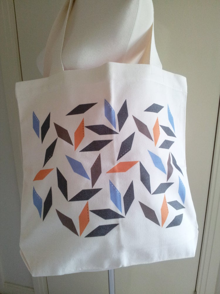 Image of Parallelogram in Blue Tote Bag (only 1)