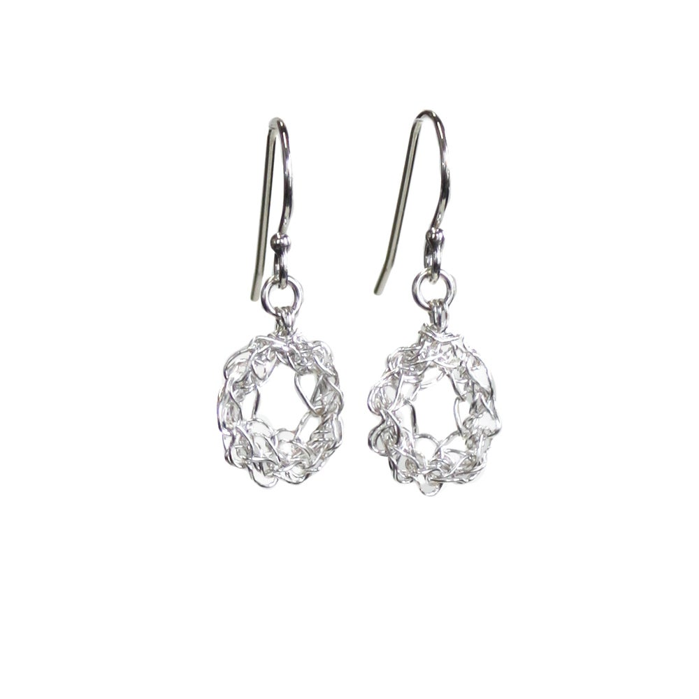 Image of Tiny Silver Loop Earrings