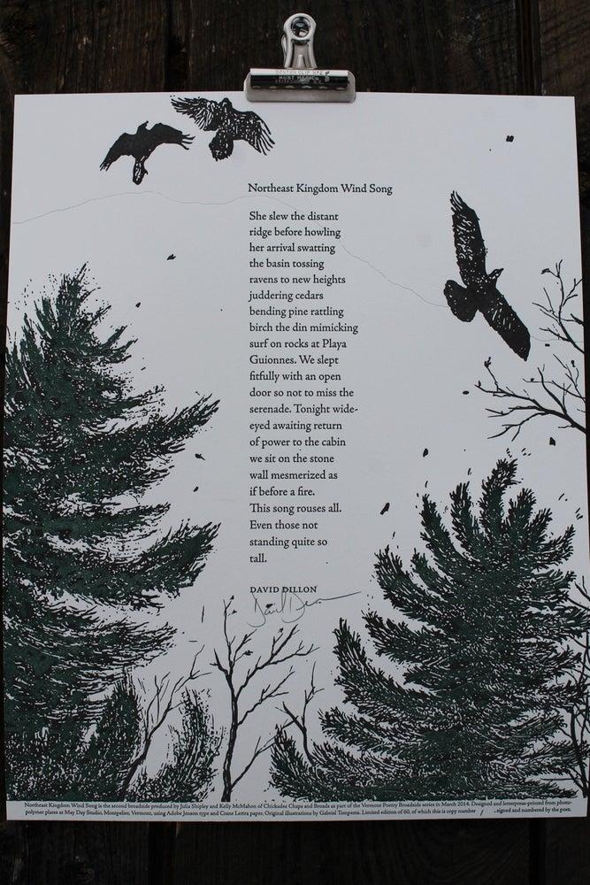 Image of Northeast Kingdom Wind Song Broadside