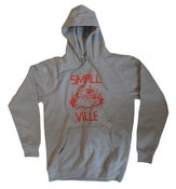 Image of Smallville Hoodie - heather grey/ red