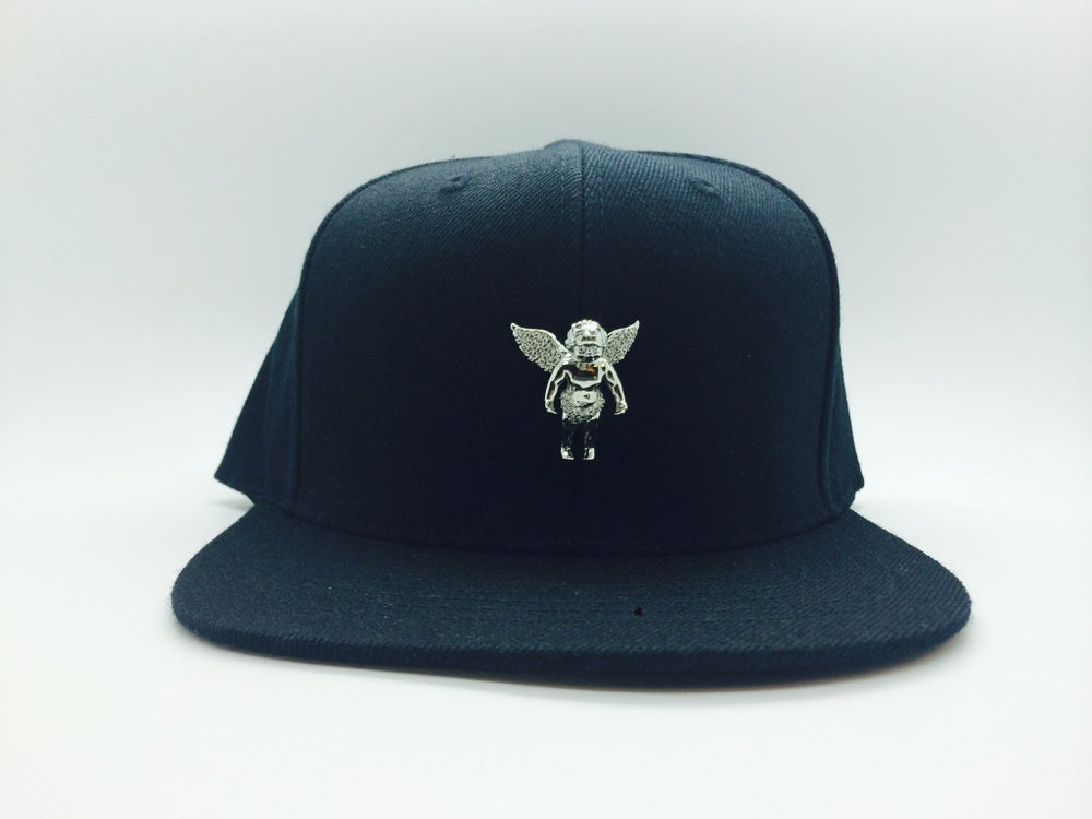 Image of Angel Cherub Inspired Snap back Blk