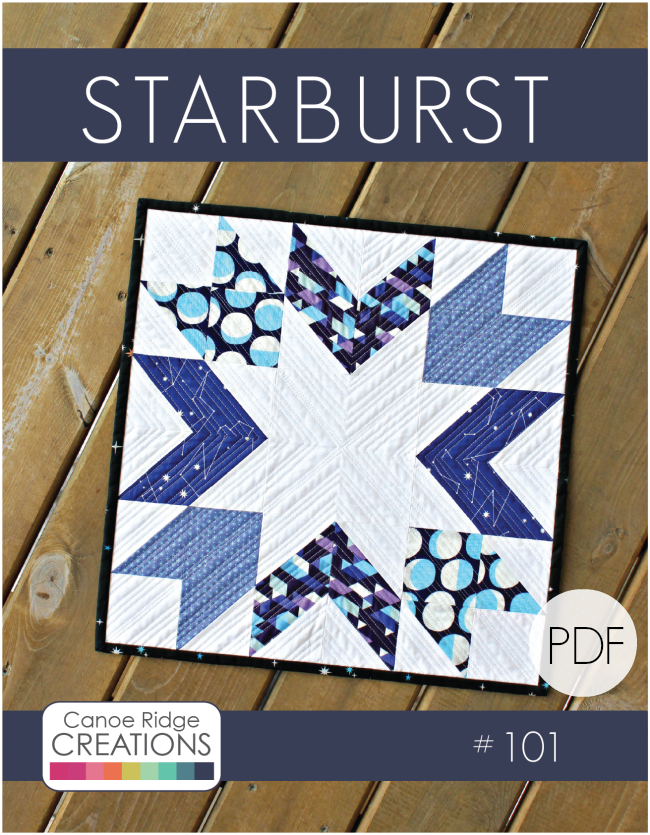 Image of Starburst Mini Quilt #101, PDF Pattern