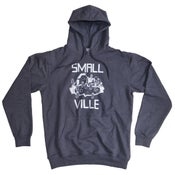 Image of Smallville Hoodie- heather blue/ white