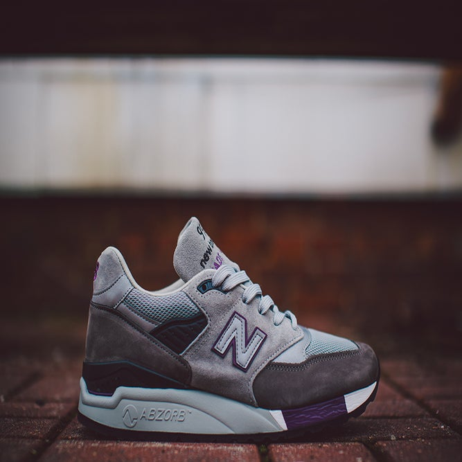 Image of New Balance 998 Made in Usa Grey/Purple