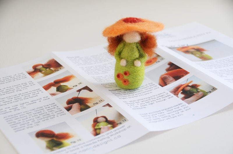 Image of Flower Fairy - Needle Felting Kit
