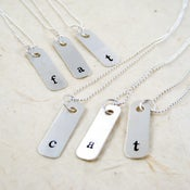 Image of Mini Sterling Silver Dogtags