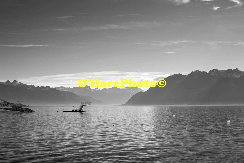 Image of LAC LEMAN • Custom Matted