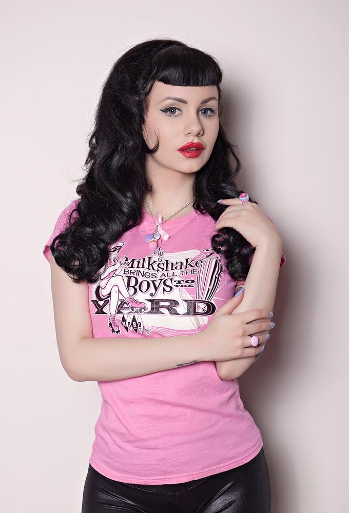 Image of Milkshake! Ladies Pink T-Shirt