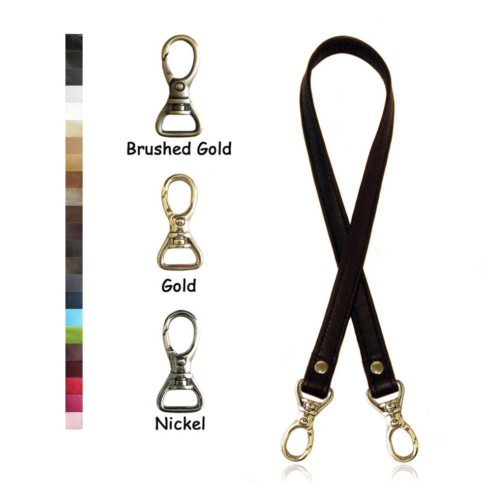 "Image of 30"" (inch) Long Leather Strap - .75"" (inch) Wide - Your Choice of Color & Hardware #13"