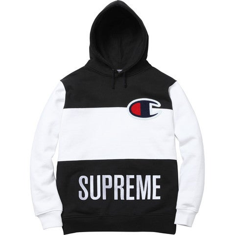 Image of Supreme x Champion Color Blocked Pullover (Black)