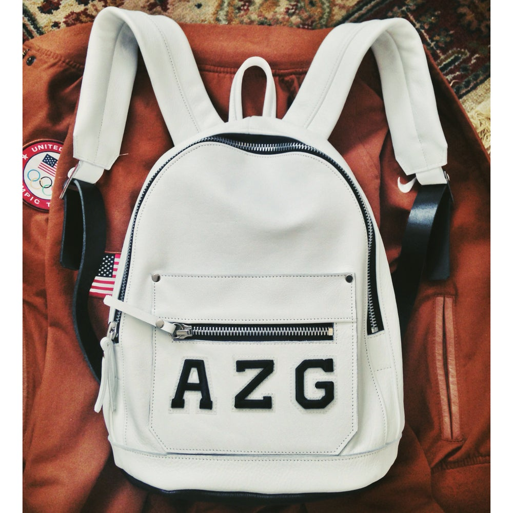 Image of White Mini Collegiate Backpack