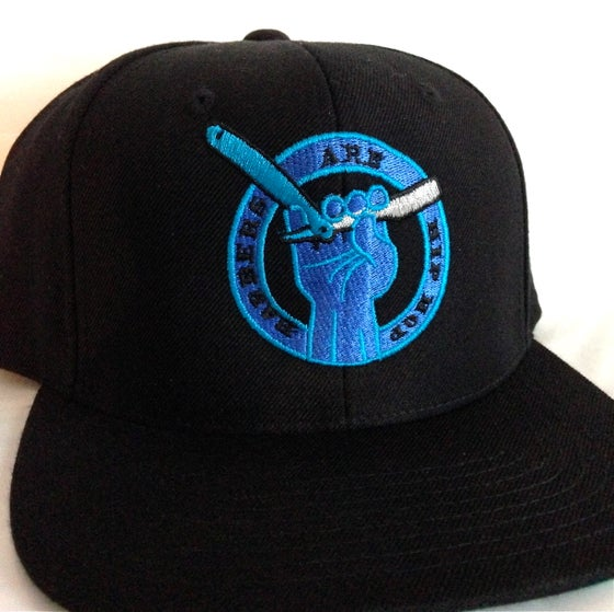 Image of Black With Blue Hues Barbers Are Hip Hop Snapback