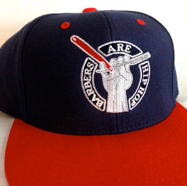 Image of Navy & Red Barbers Are Hip Hop Snapback