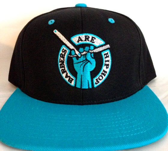 Image of Black & Turquoise Barbers Are Hip Hop Snapback Hat