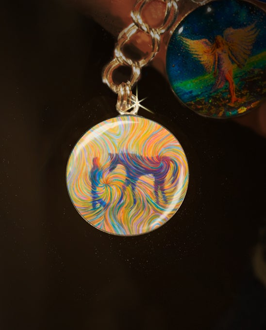 Image of Just Us Horse Energy Charm - Celebrates the lifelong bond between a girl and her horse
