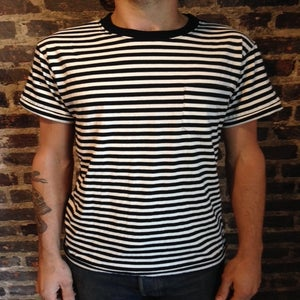 Image of The Lousy S/S Pocket T Shirt BLK/WHT