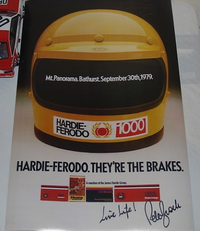 Image of Bathurst 1979 poster - Signed by Peter Brock. copy.