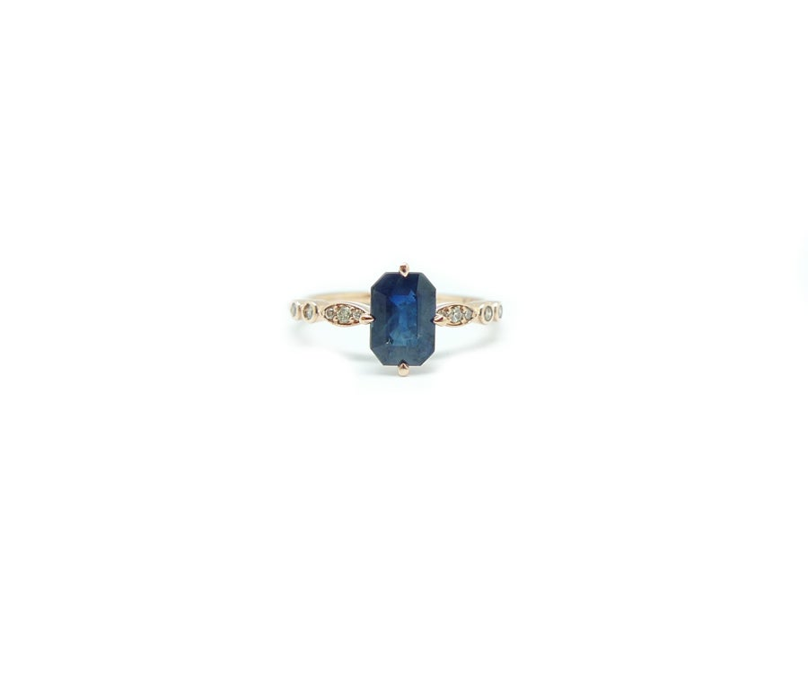 Image of Eleanor Blue Sapphire Ring