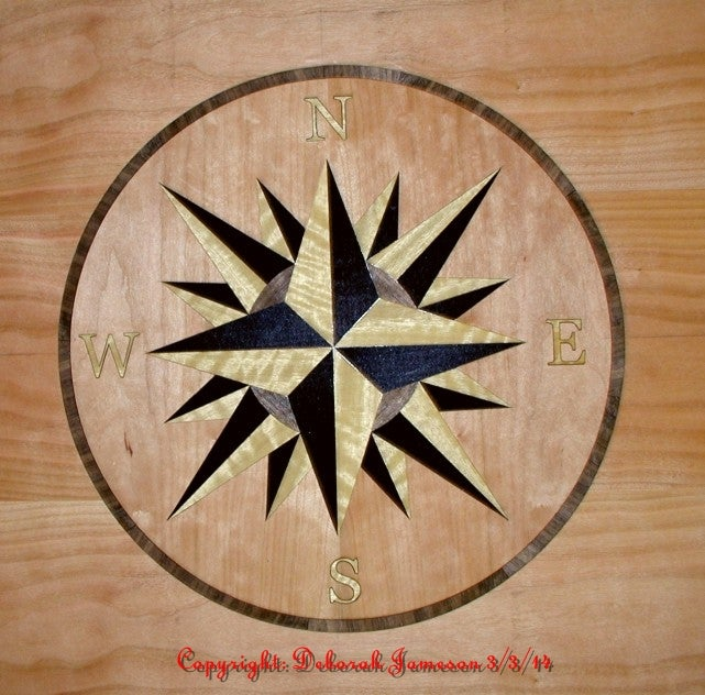 Image of Item No. 273. Nautical Compass rose Marquetry Inlay Veneer.