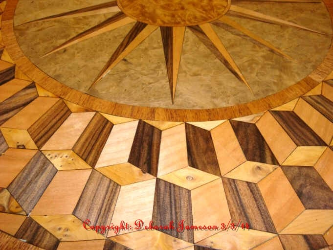 Image of Item No. 278.  Nautical Highly Detailed Marquetry Table Top.
