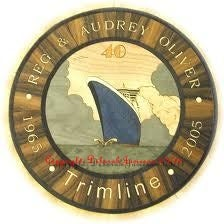 Image of Item No. 279. Personalised Marquetry Porthole.