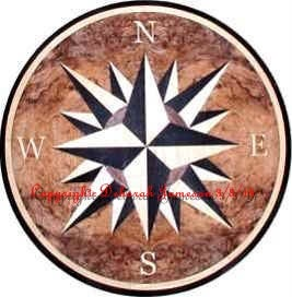 Image of Item No. 148. Nautical Rose Marquetry Inlay.