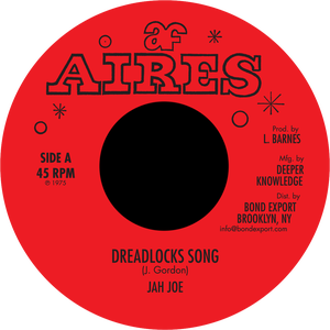 "Image of Jah Joe - Dreadlocks Song 7"" (Aires)"