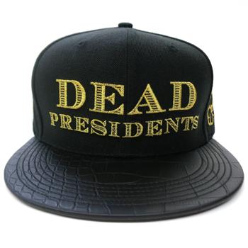 Image of Dead Presidents Strapback (Black/Gold)