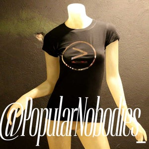Image of Popular Nobodies - Womens - Sports tee Black and Silver
