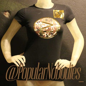 Image of Popular Nobodies - Womens Black Gold and Camo