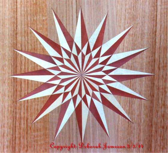 Image of Item 164. Highly Marquetry Detailed Compass Inlay