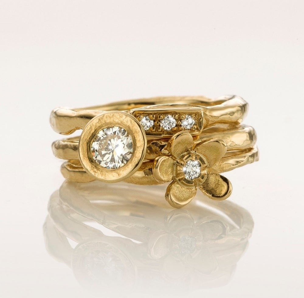 Beeld van Stack ring geel goud