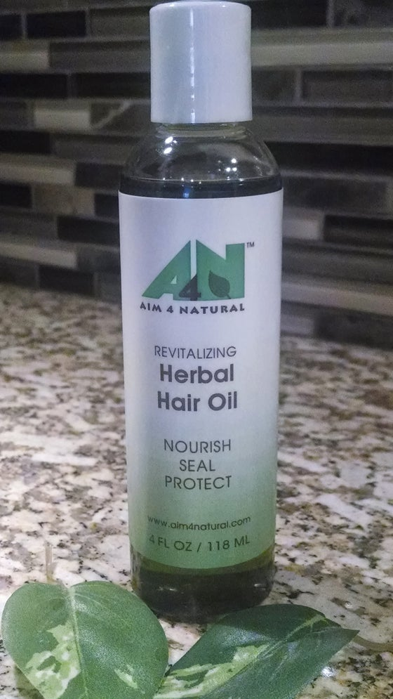 Image of Revitalizing Herbal Hair Oil 4oz./118ml