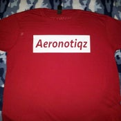 Image of Red Aeronotiqz Box Logo Tee