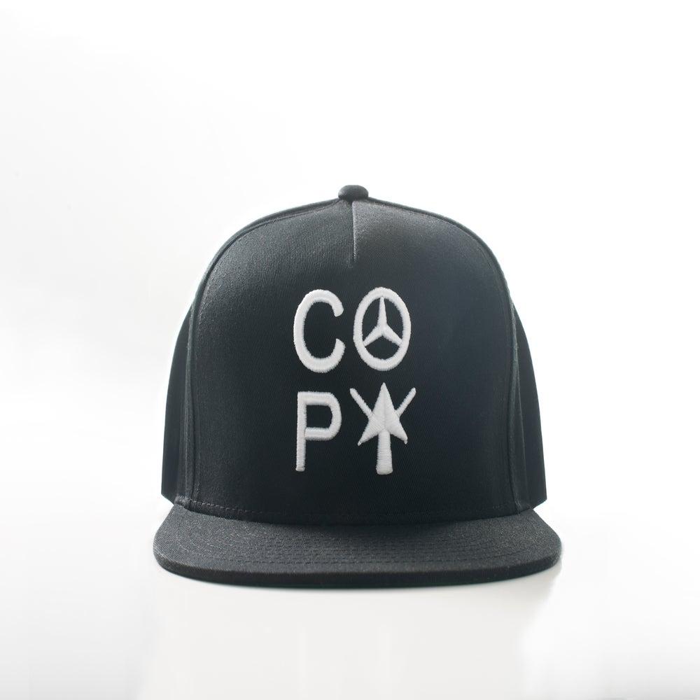 Image of C.O.P.Y Logo snapback (BLACK/WHITE)