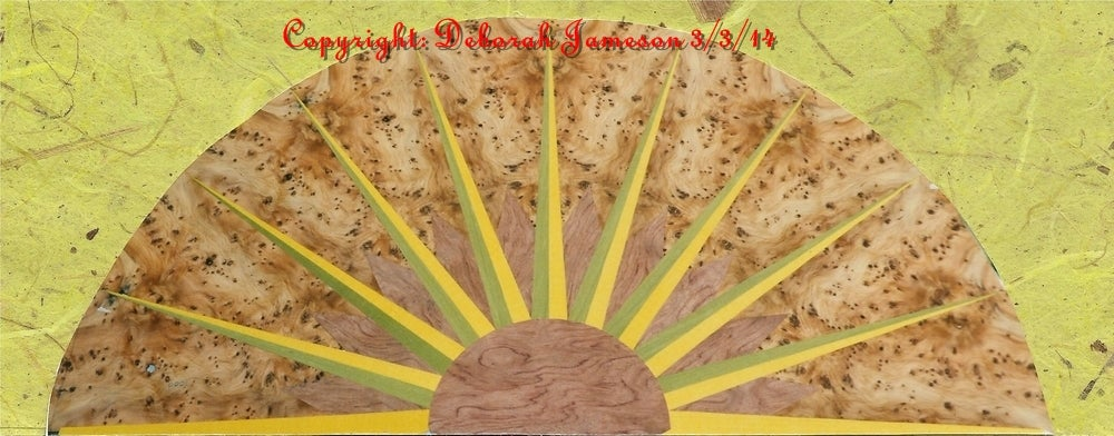 Image of Item No. 112. Marquetry Inlay Veneer Beautiful half SUNBURST.
