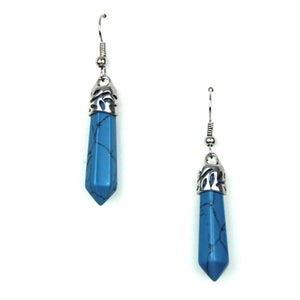 Image of Bullet Point Turquoise Earrings, SW281 Turq