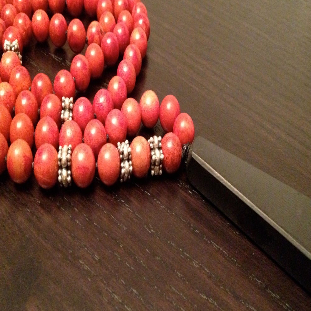 Infinite Energy Red Coral Mala / Iloveisola