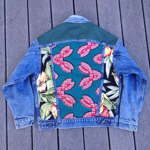 Image of HILL&VELEZ X LeROY JENKINS DENIM JACKETS LEATHER TOP 2