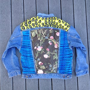 Image of HILL&VELEZ X LeROY JENKINS DENIM JACKETS WAX LIME YOKE