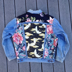 Image of HILL&VELEZ X LeROY JENKINS DENIM JACKETS DARK HAWAII