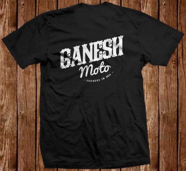 Image of GaneshMoto T-shirt Black