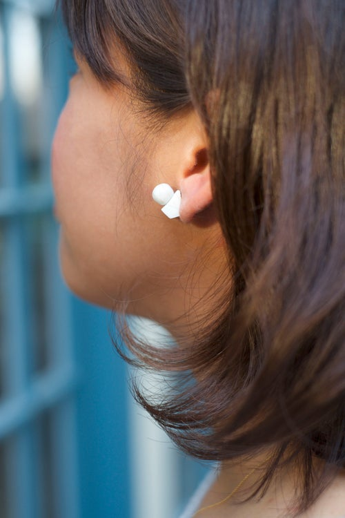 Image of globe earring