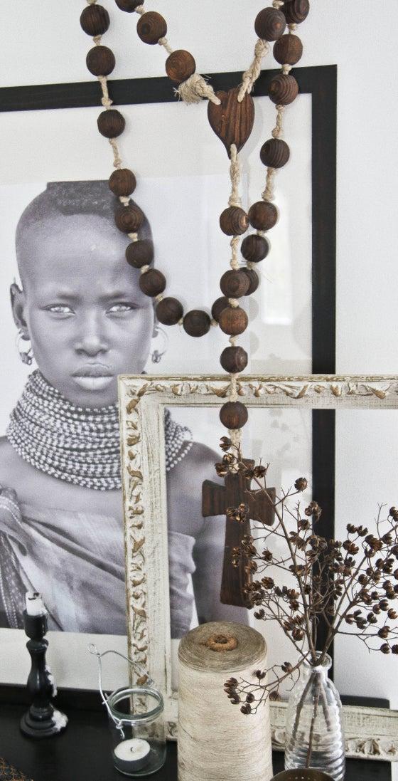 Image of Wood Bead Rosary