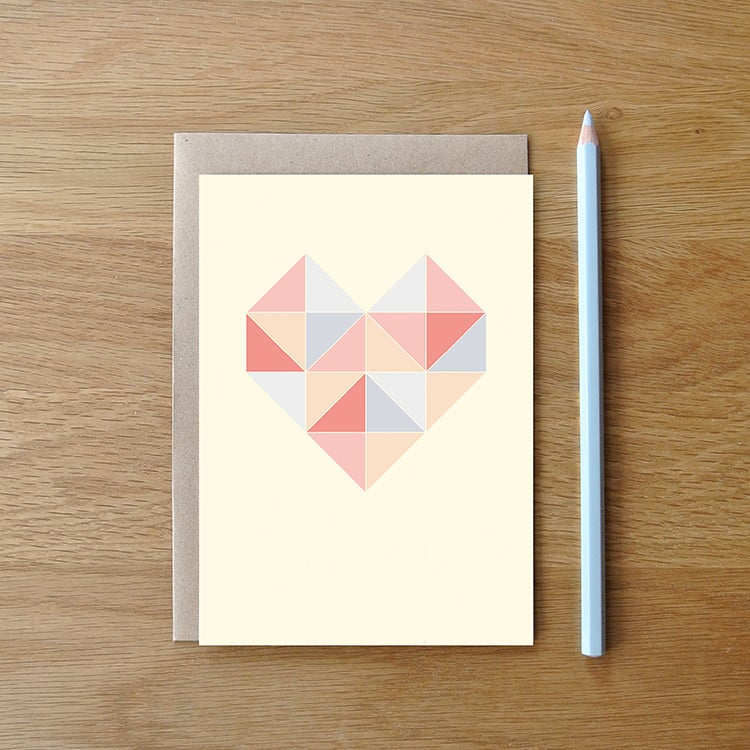 Image of Carte postale Coeur + enveloppe