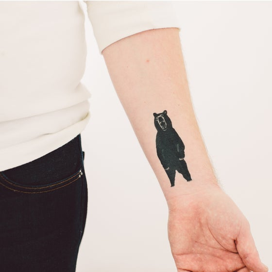 Image of Bear Tattly Temporary Tattoo