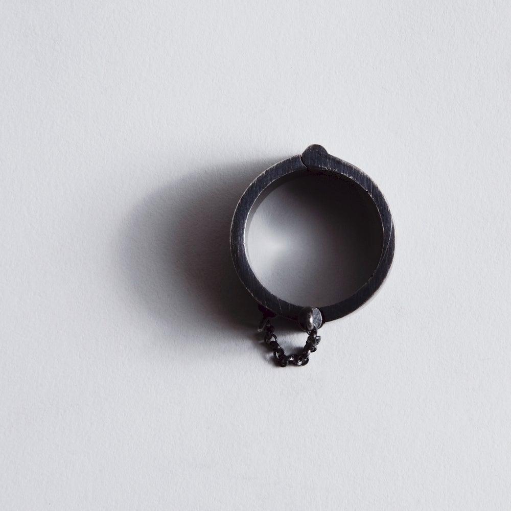 Image of HEAVY CUFF RING BLACK