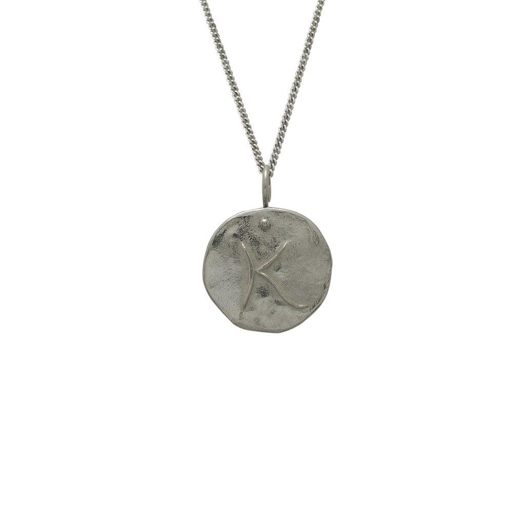 Image of Letter Medallion Necklace